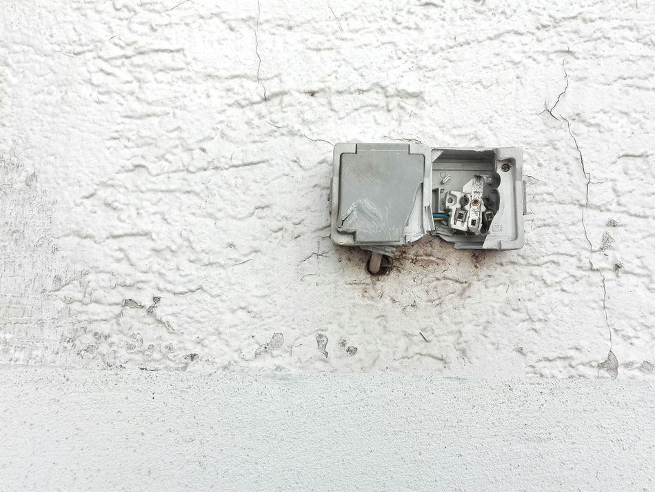 Einsicht Electricity  Electrical Outlet Minimalism Minimal Wall Decay Broken