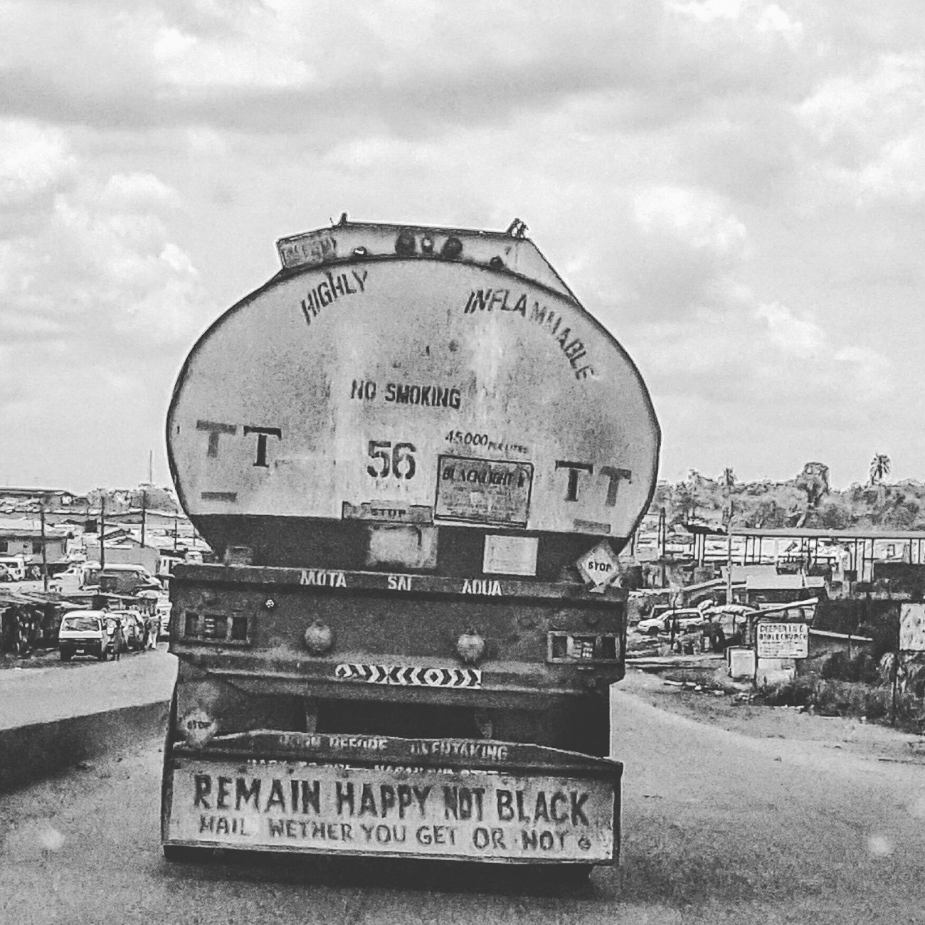 But I am Happy & Black ... Cloud - Sky Outdoors Close-up No People Space City Text Sky Day SignSignEverywhereASign Funny Pictures Blackandwhitephotography Nigeria