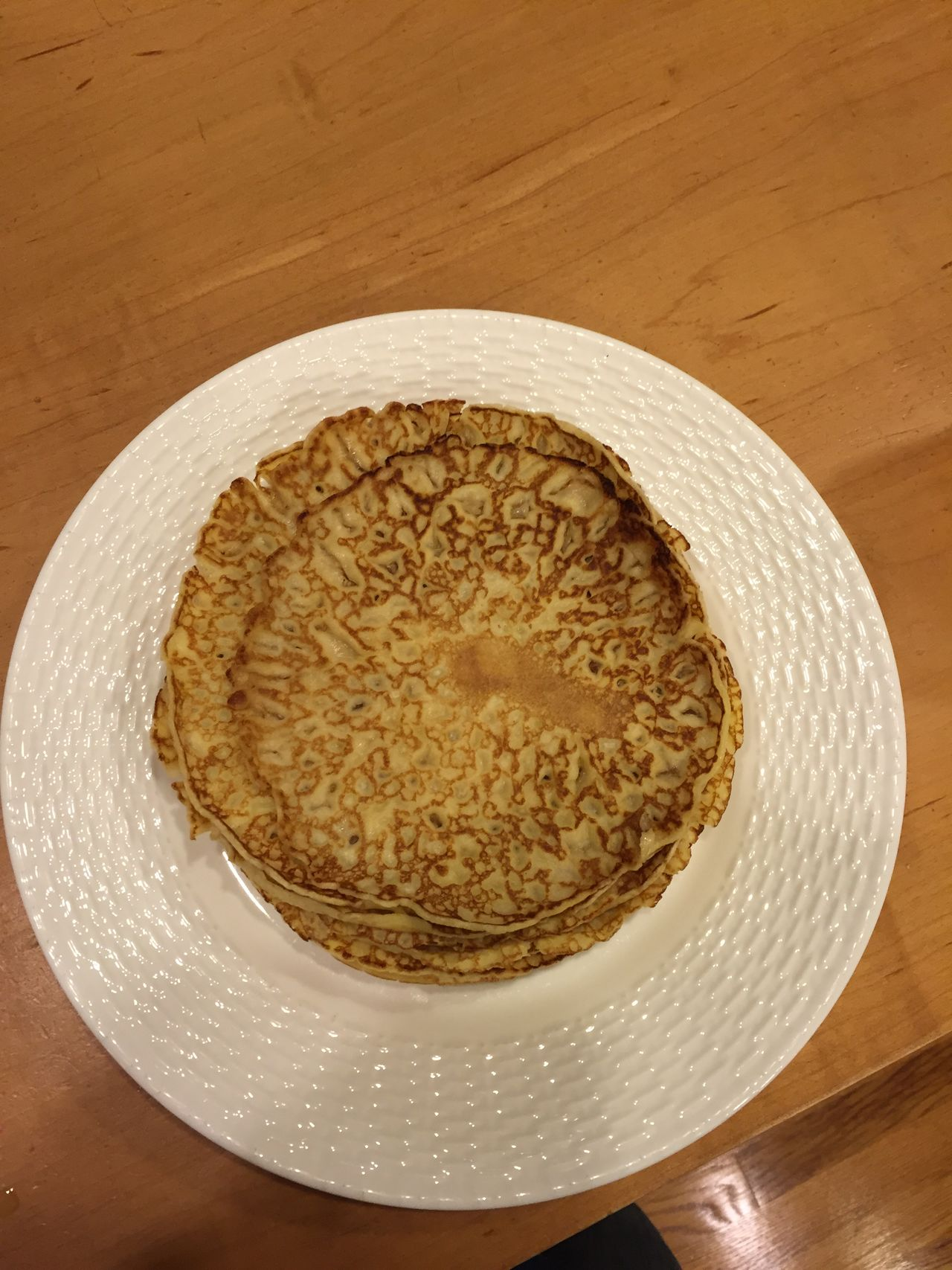 Pankakes Pfannkuchen Plate Ready-to-eat Sweet Food Wood - Material
