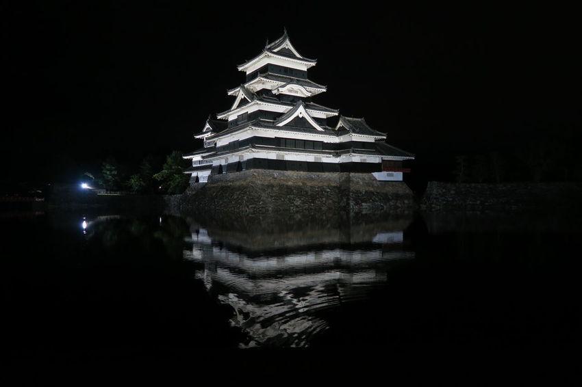 Castle Japan Matsumoto Castle / Japan Matsumoto CITY Nagano Prefecture,Japan National Treasure Night View Tranquility