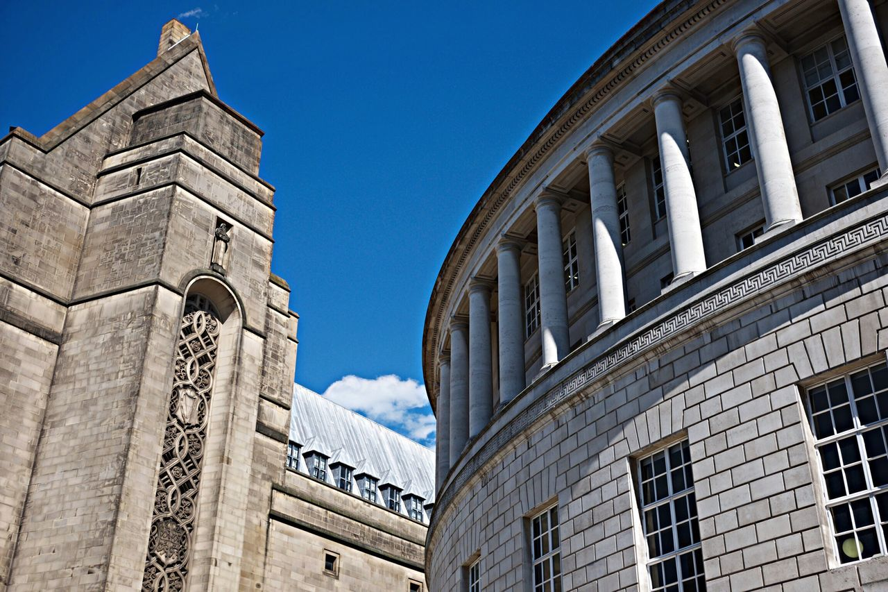 Manchester Victorian Library Blue White Stone