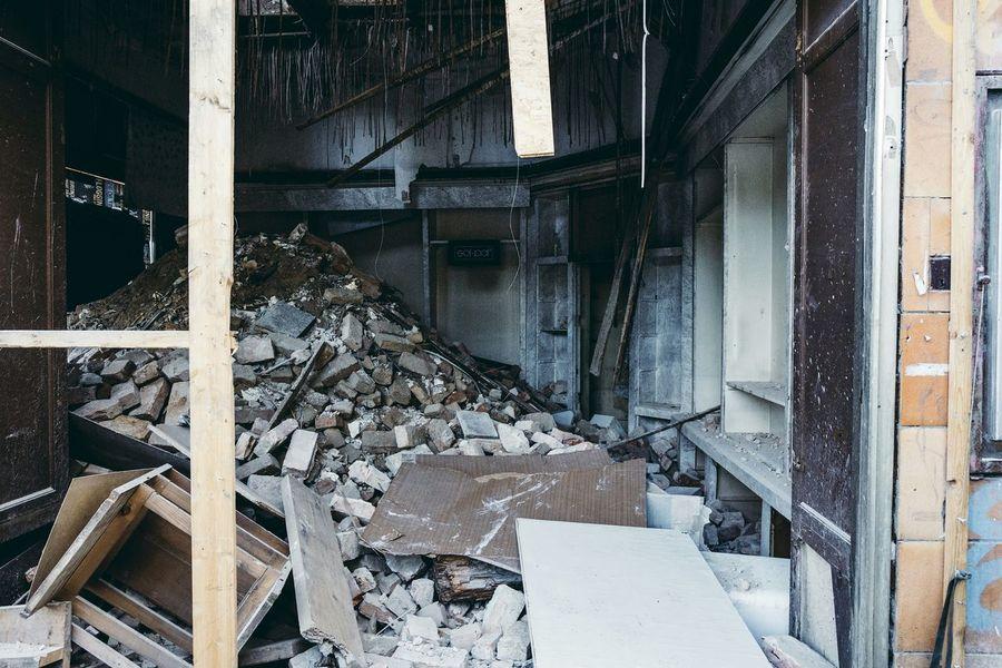 old building demolition Old Buildings Demolition Construction Site Ostalgie Caos Debris
