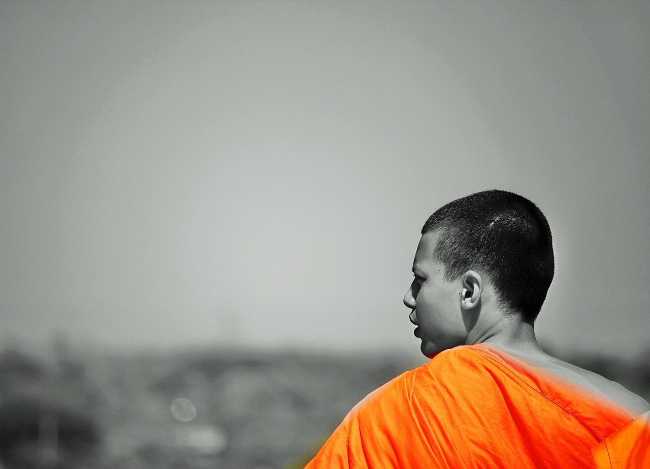 Headshot One Person Rear View Young Adult Close-up People Outdoors Day Buddhist Monks Ayuthaya Thailand