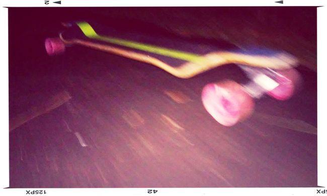 Longboarding At Night Beautiful Surroundings Motion Blur Longboarding Colors