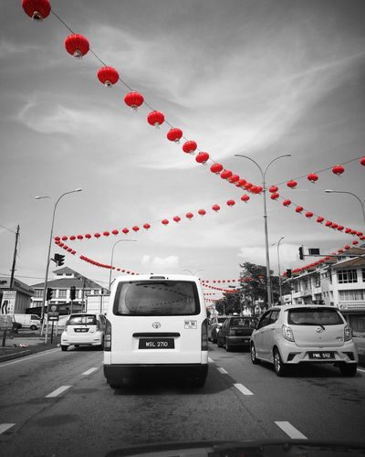 Chinese New Year New Year 2018 Car Red Cloud - Sky Sky Day No People City