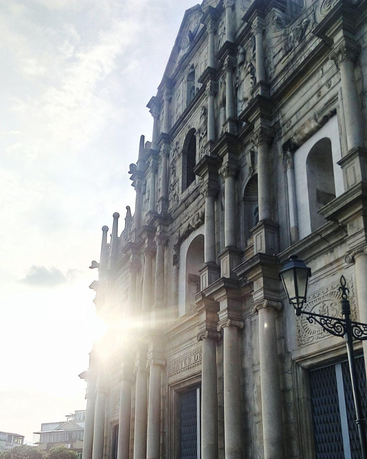 Church Ruins Architecture Landmark Macau