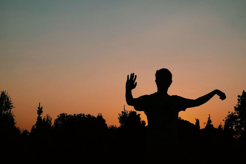 Beautiful stock photos of silhouette, Beauty In Nature, Cambrils, Clear Sky, Copy Space