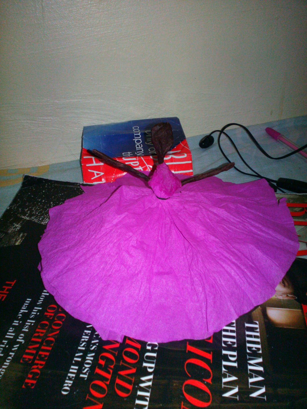 Handmade For You Pink Color DIY Stuff Paper Ballerina