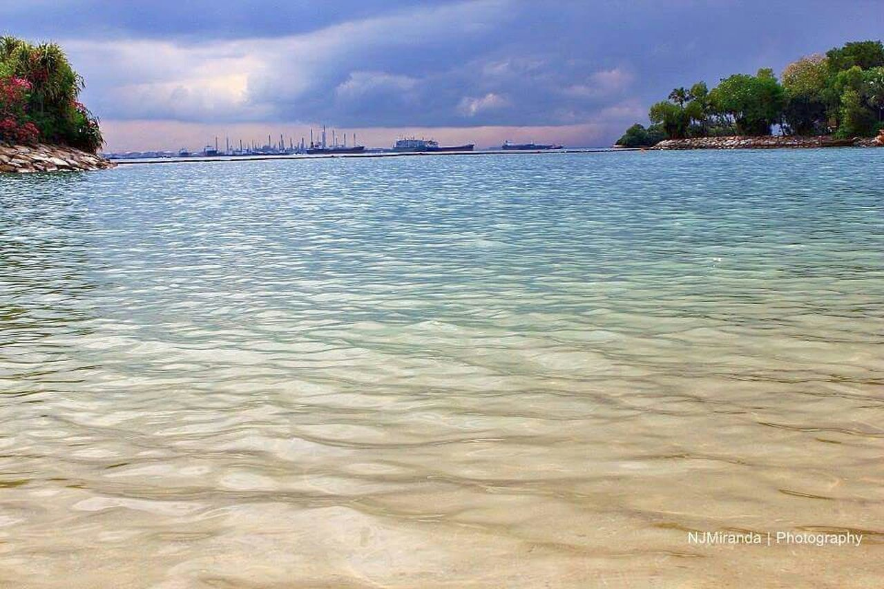 beach, sea, cloud - sky, tree, sky, sand, water, vacations, outdoors, sunset, nature, landscape, travel destinations, scenics, summer, built structure, architecture, no people, building exterior, beauty in nature, day, city