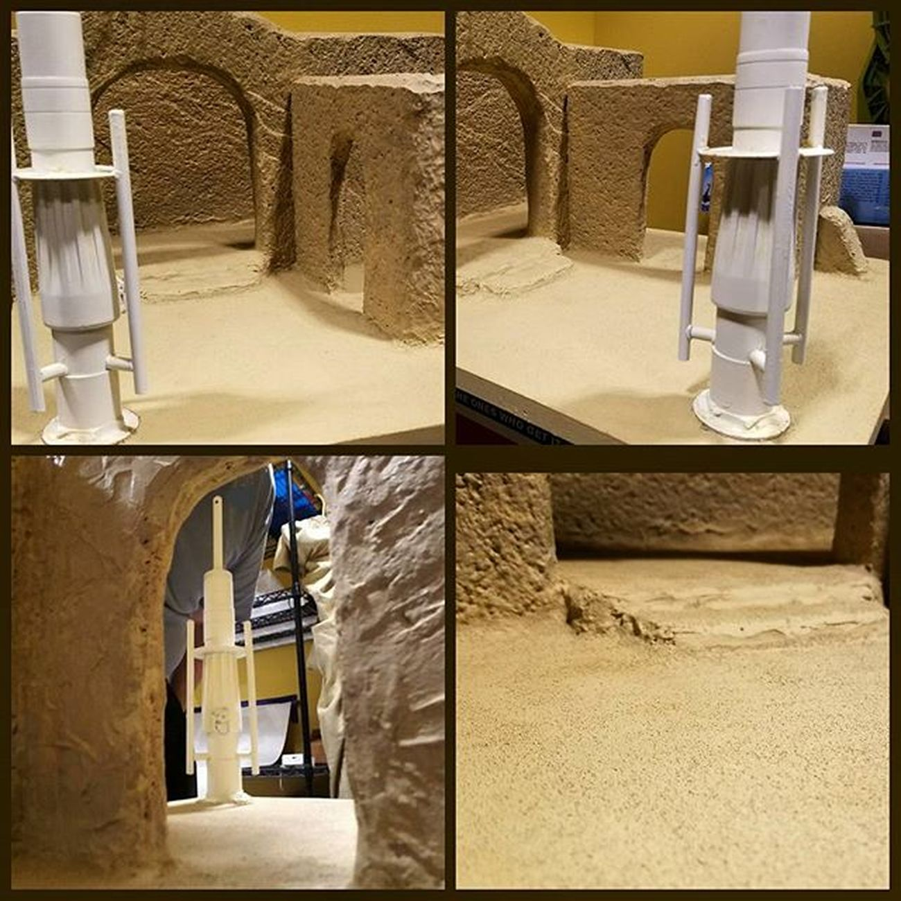 Sand added to Sandtooine next is weathering. Almost done. Tatooine Starwarstoyfigures Starwars Starwarsblackseries Blackseries Starwarstheblackseries Ihatesand Moistureevaporators Moisturefarm Diorama