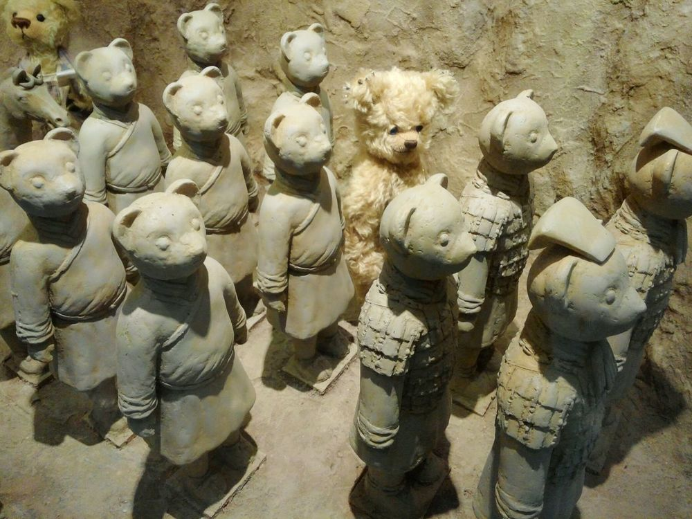 중국 역사 속 귀여운 곰돌이한마리