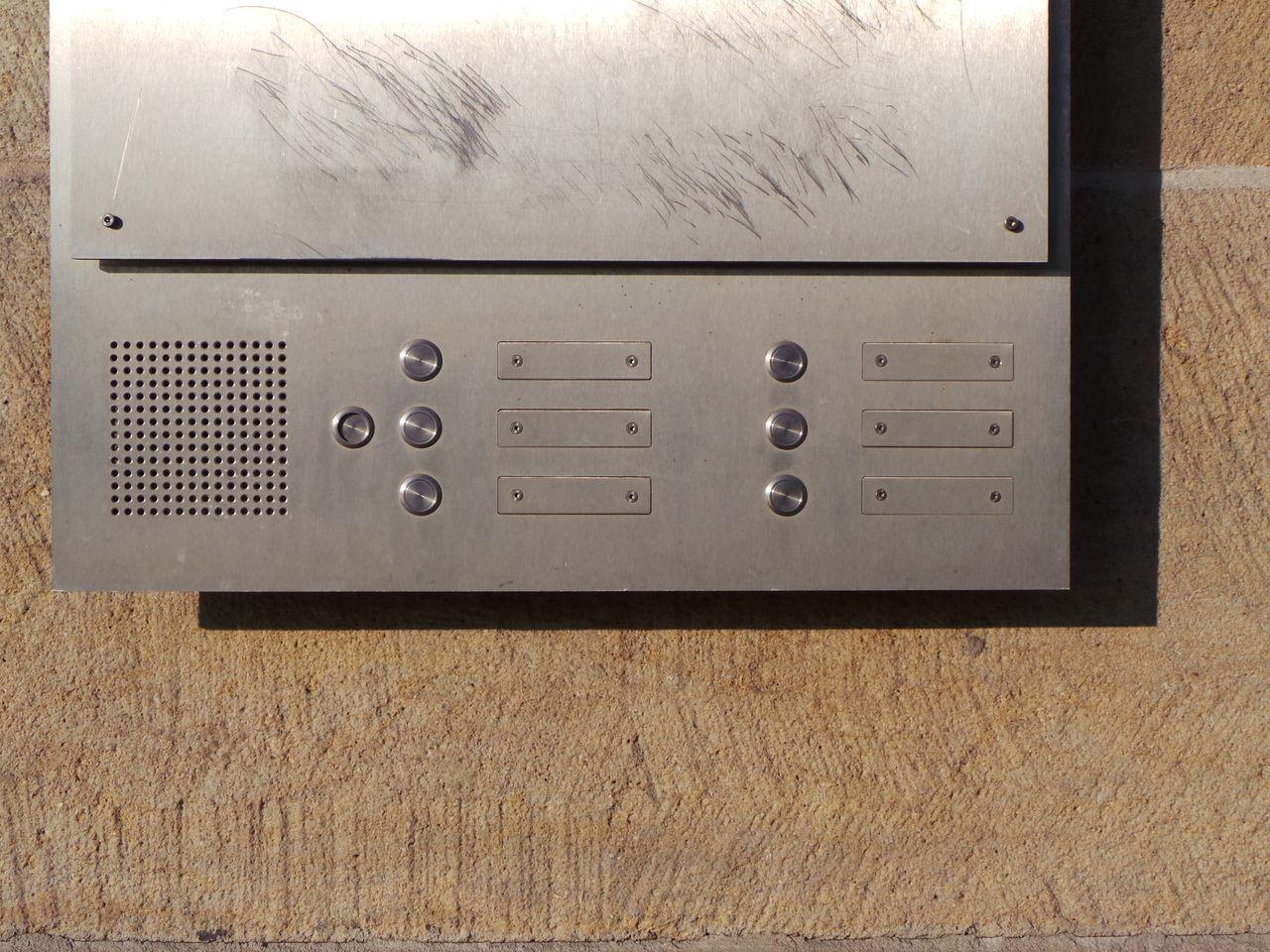 Communication Gegensprechanlage Intercom Interphone Klingel Klingelbrett Klingelschild Kommunikation Silber Silver  Wall Wand