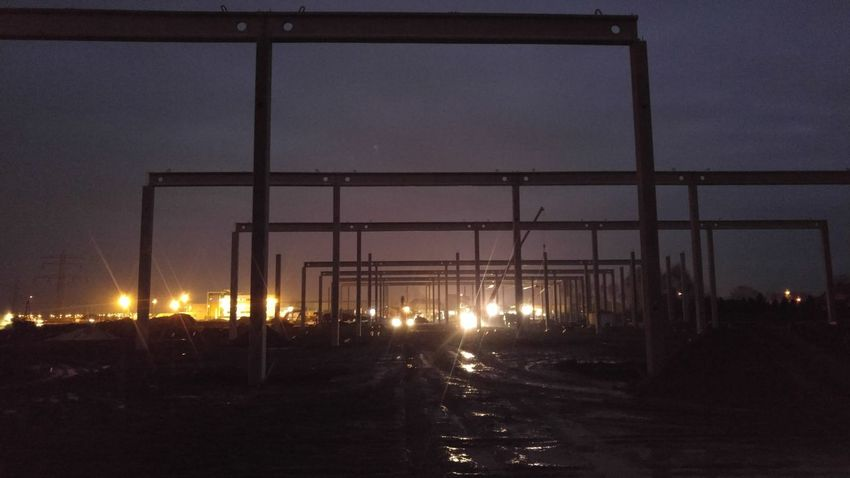 Architecture Built Structure City Illuminated Industry Night No People Outdoors Rail Transportation Railroad Track Road Sky The Way Forward Transportation