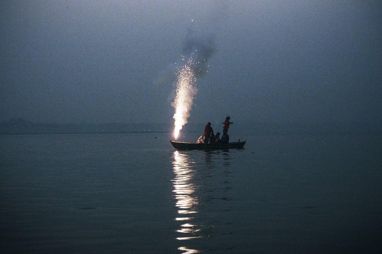 Beautiful stock photos of feuerwerk, nautical vessel, water, mode of transport, sea