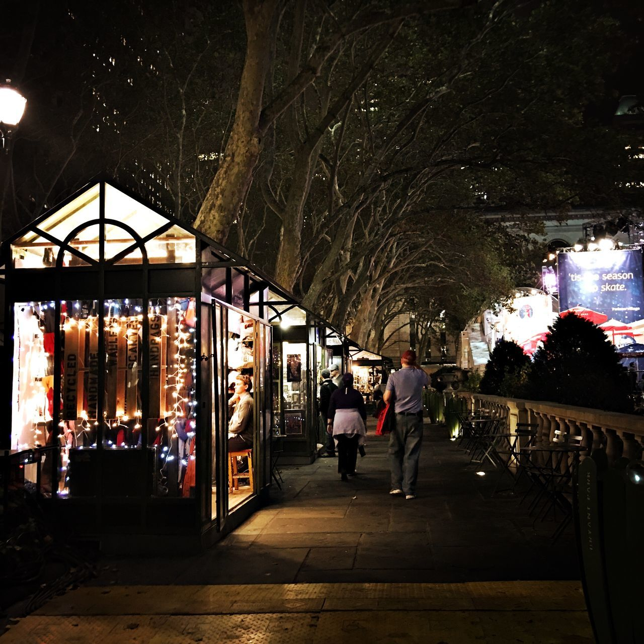 Holiday Markets At Bryant Park are already up.