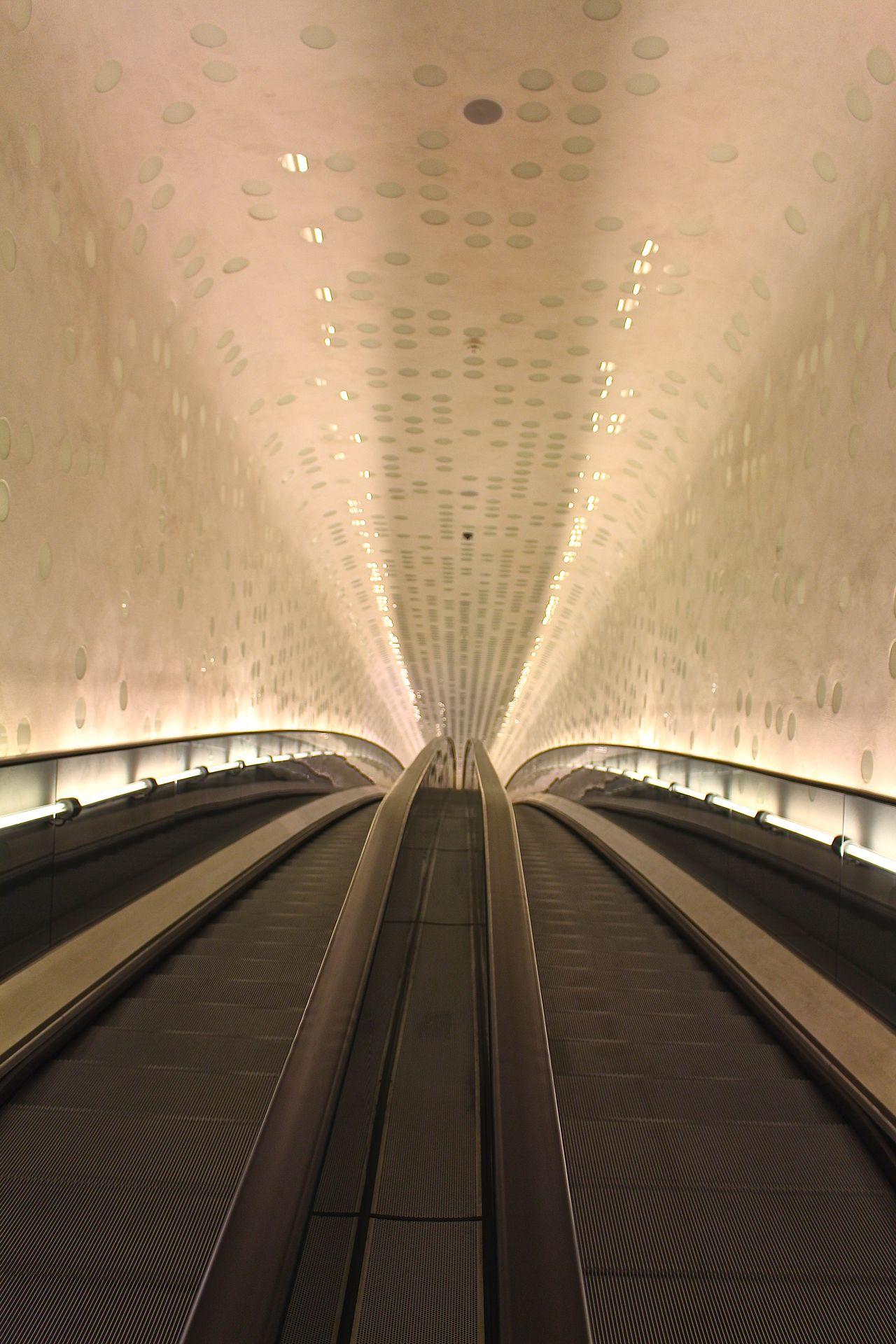 Architecture Citytrip Eingang Elbphilharmonie Elbphilharmony Entrance Escelator Hamburg Illuminated Rolltreppe Transportation Tube