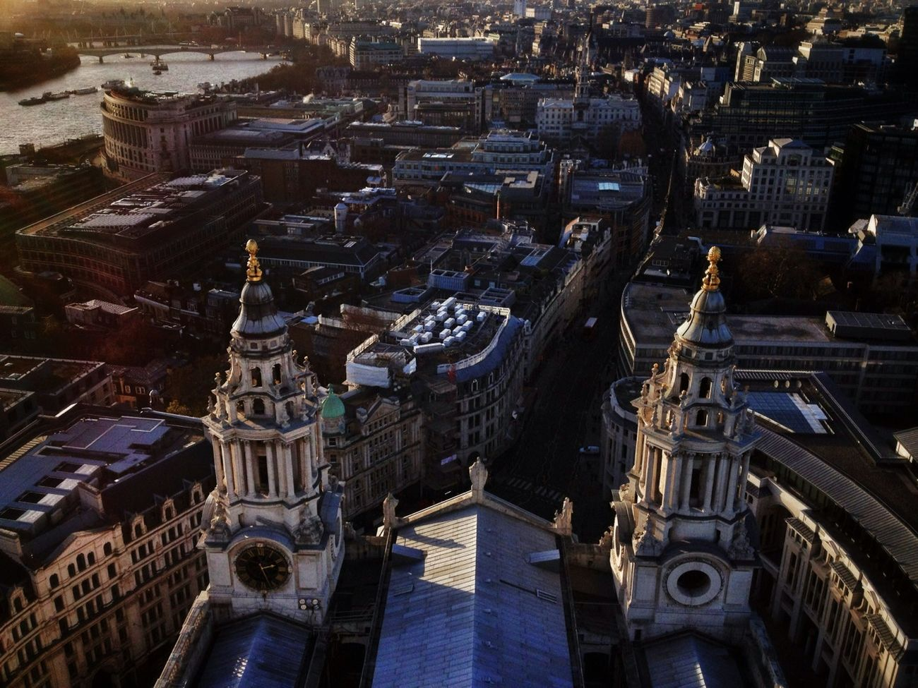 View to the west of London from the Golden Gallery at St Paul's Cathedral