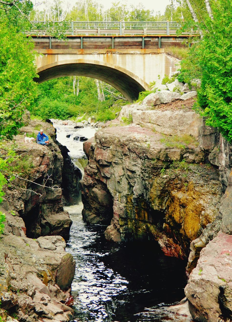Beautiful Day Minnesota Nature Summer Views From Above  Bright Day Temperance River