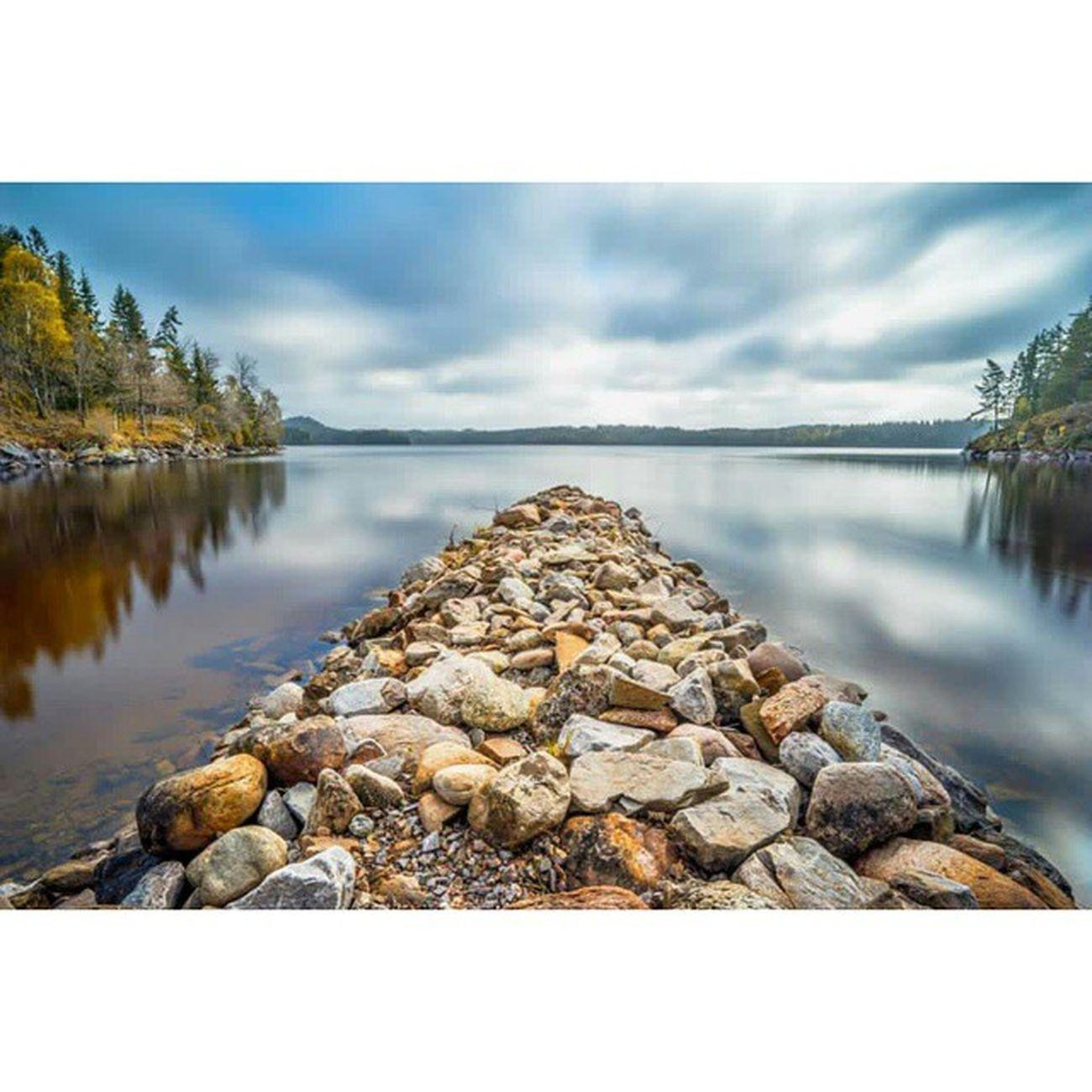Jetty Pier Rocks Stone Water Lake Sweden Vastragotalandcounty Nyckelvattnet Calm Peaceful Nature