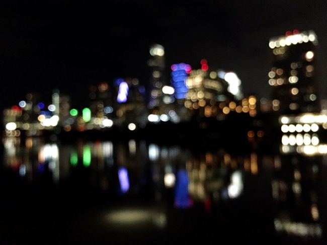 Blurred Lights Blurred Skyline Cityscapes Night Lights Night Photography Reflections In The Water Reflection Skyline
