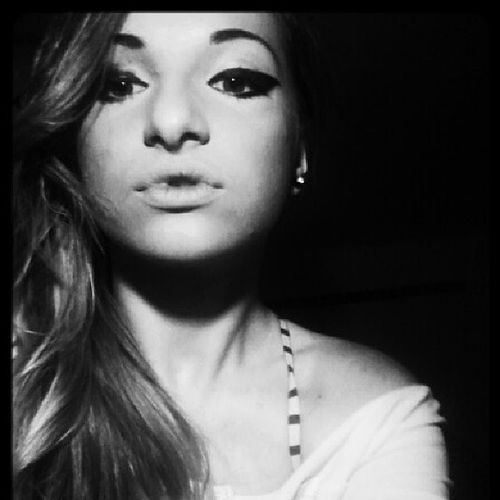 """""""I'm friend with the monsters that's under my bed, get along whith the voices inside of my head, you're trying to save me, stop holding your breath, and you think I'm crazy, yeah you think I'm crazy. """" Me French Girl Blackandwhute plughair"""