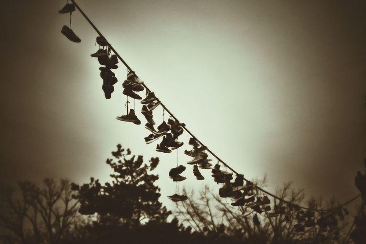 Shoes Silhouette Letenske Sady Prague Travl Snapshot Black And White Photography Vintage
