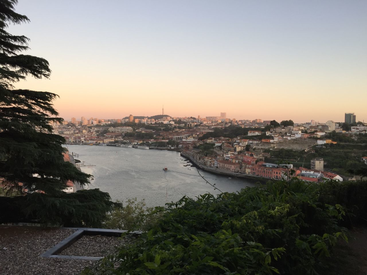 Architecture Bridge - Man Made Structure City Cityscape Douro  Duero No People Oporto, Portugal Outdoors Porto Portugal River Sky Sun Sunset Sunset_collection Sunsets Travel Destinations Tree Urban Skyline Water