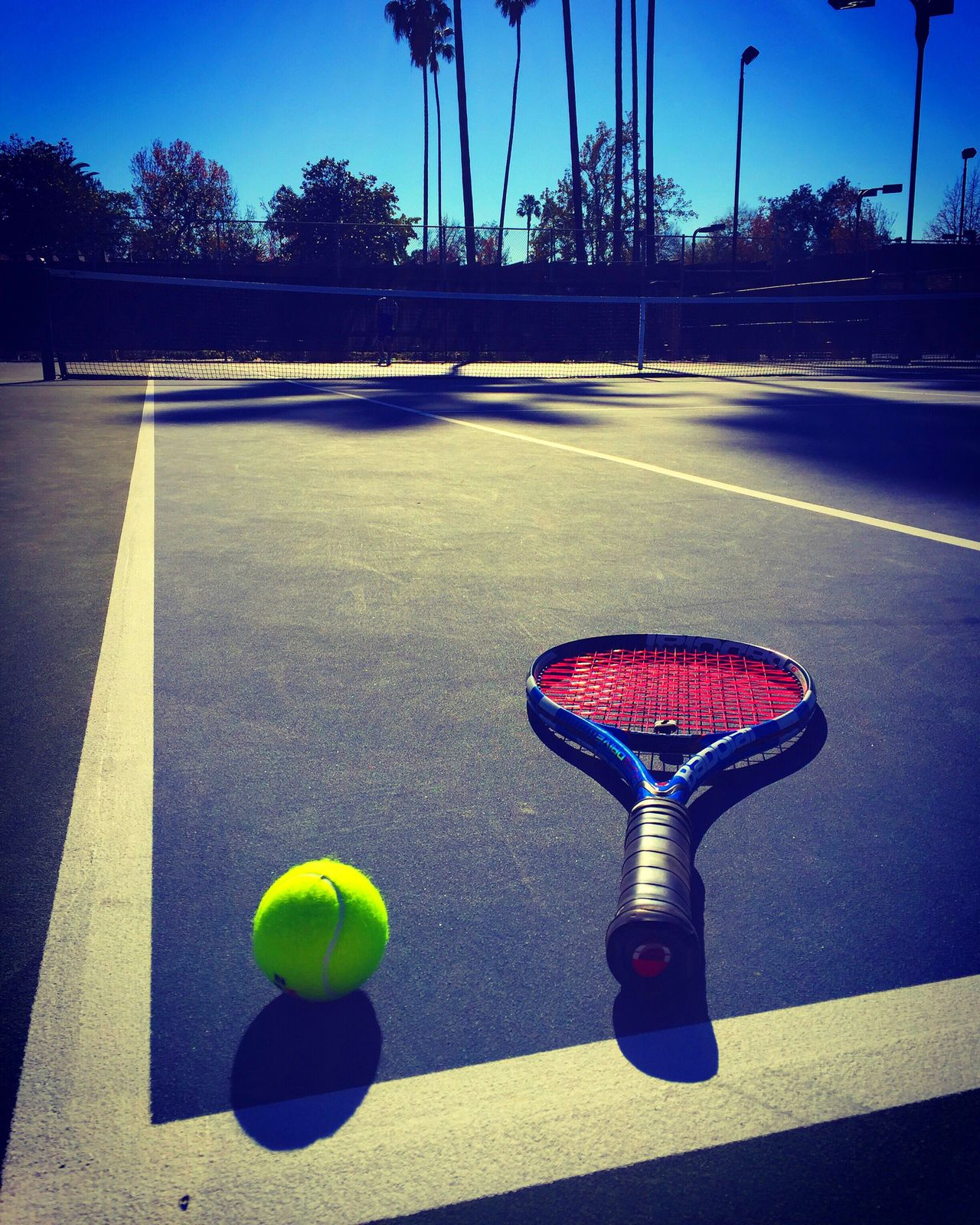The Color Of Sport Tenniscourt Tennis 🎾 Blue Outdoors My Sport The Color Of Sport By September 14 2016