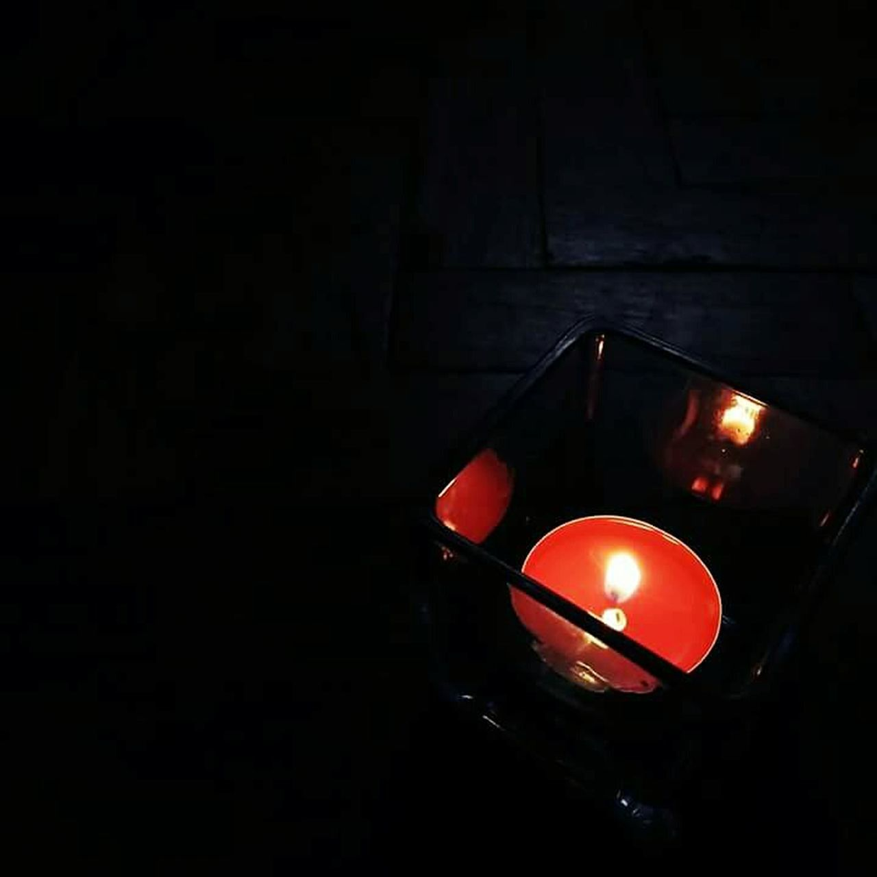 Red No People Indoors  Black Background Night Candle Light