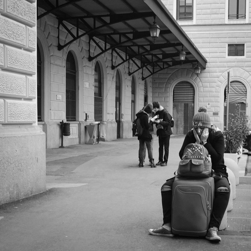Black And White Documentary Photography People Streetphotography Tired Out Travel Travel Photography Travelling Venice, Italy