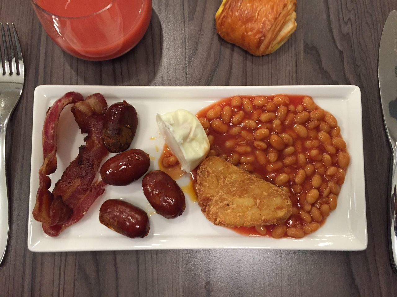 London Breakfast Beans English Breakfast Baked Beans Food And Drink Sausage Indoors  No People