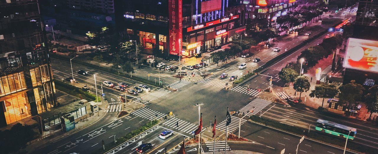 No People Crossing Crossroads City City Street Shenzhen China China Photos