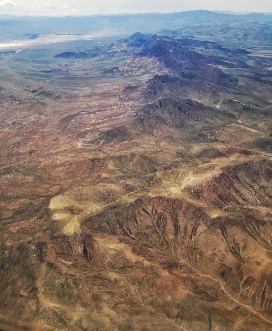 Flying Nevada, USA Arial View Airplaneview Mountains Beauty In Nature Nature Outdoors No People Tranquility Day Scenics Sky