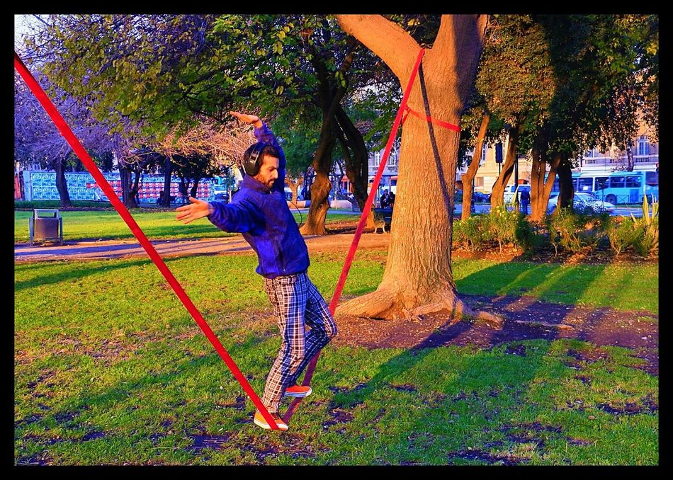 Adventure Club Slackline Rodeo Balance Landscape Sunset City Panoramic Simple Things In Life Walking Relaxing Training Slacker Giros Nature Park Listening Music Cinta Colores Tree Sport Athleisure Colour Of Life