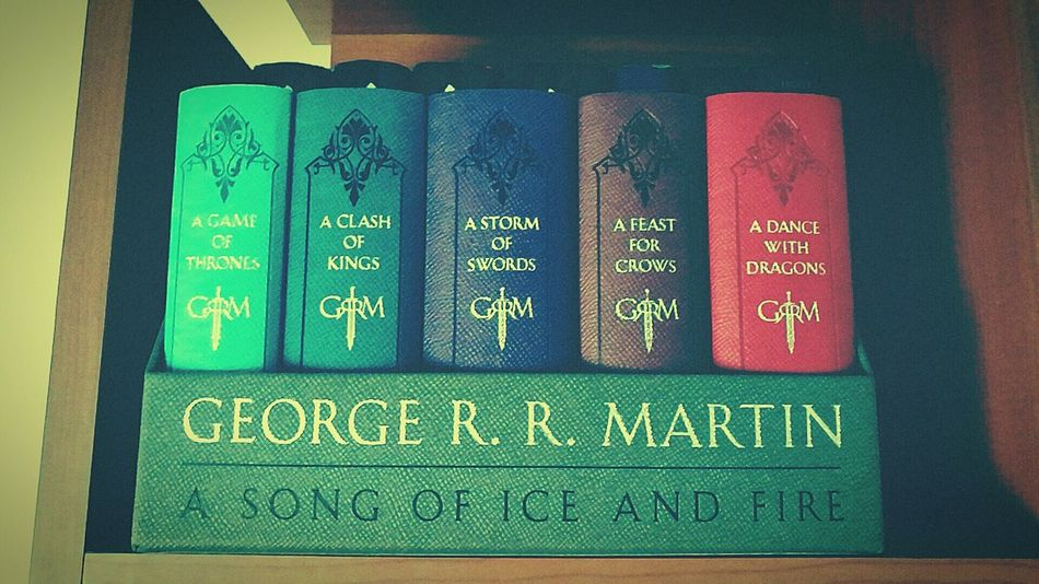 No People Day Books Book Collections Gameofthrones Gameofthronesbook Reading Books Georgerrmatin Asongoficeandfire Aclashofkings Astormofswords Afeastforcrows Adancewithdragons JonSnow Targaryen Stark The Winter Is Coming Collection Love Indoors  Variation Multi Colored Neat Close-up