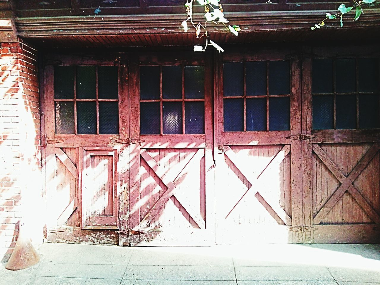 Architecture Building Exterior Exterior Garage Doors Weathered Weathered Wood
