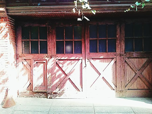 Architecture Building Exterior Exterior Garage Doors Weathered Weathered Wood