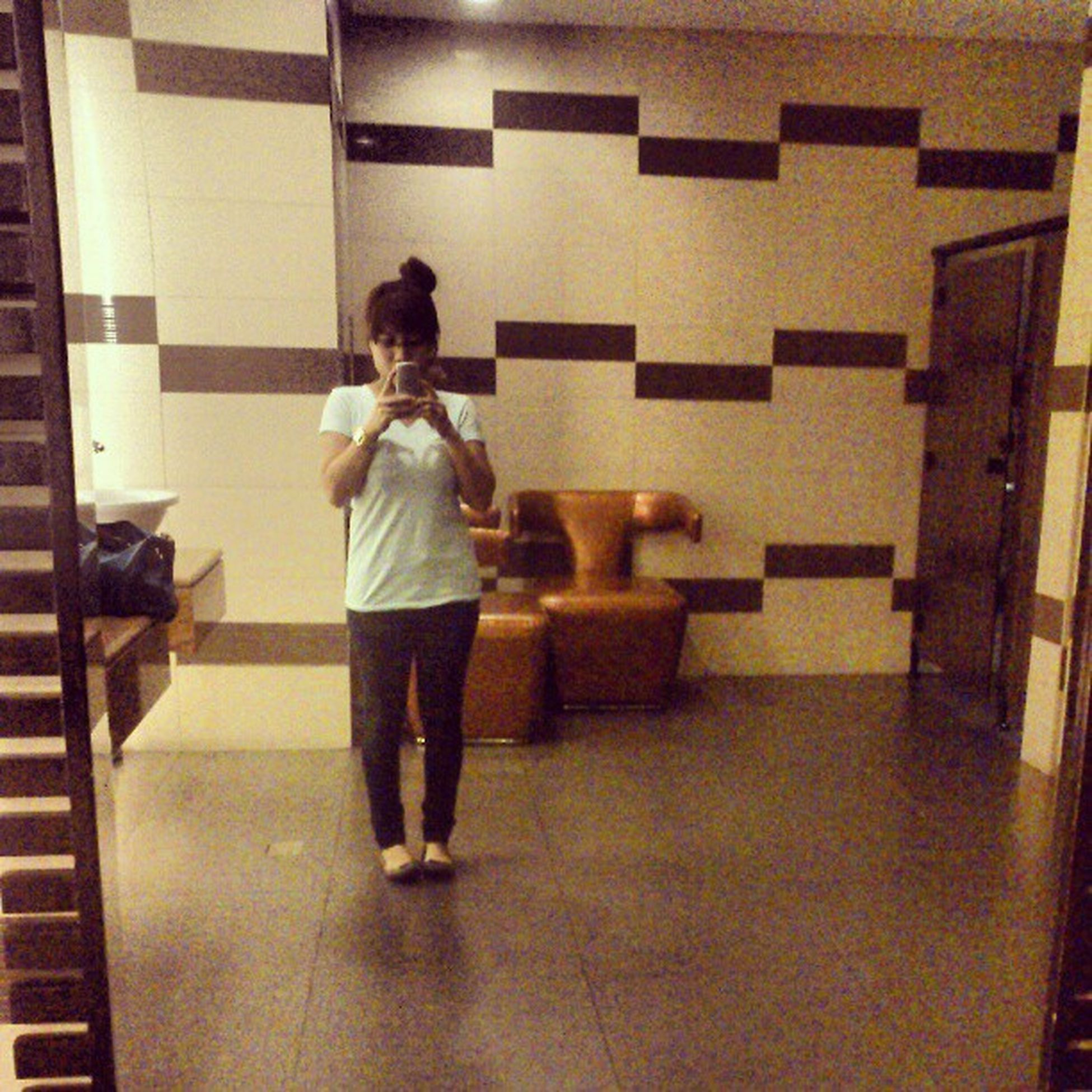 Can you guess where exactly am I? It's a combination of living room and comfort room. :) Saturdate FastAndFurious6 Betterlatethennever Selfiemomukhamo resortsworld walangbasaganngtrip