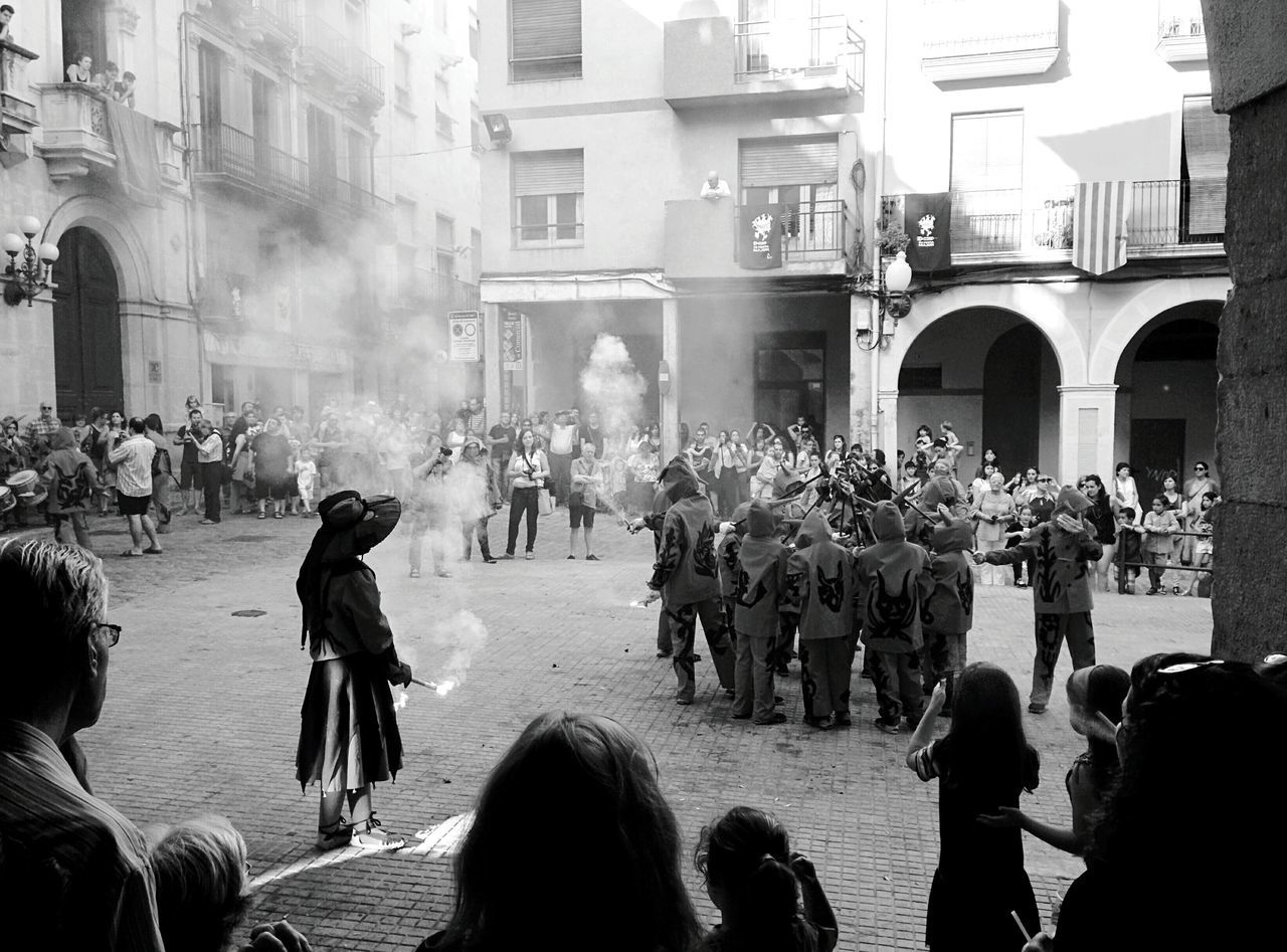 Day 363 - Los diablos 👿 Valls SPAIN Saint Joan Blackandwhite Monochrome Photography Streetphotography Streetphoto_bw 365project 365florianmski Day363