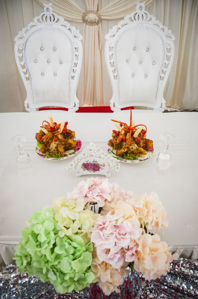Chairs Decoration Details Dining Table Dishes Food Indoors  Menu Still Life Wedding