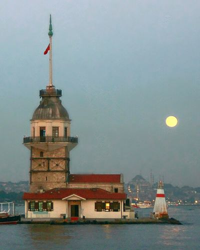 🌕 Maidentower Istanbul City Moon Fullmoon Full Moon Nature Evening View