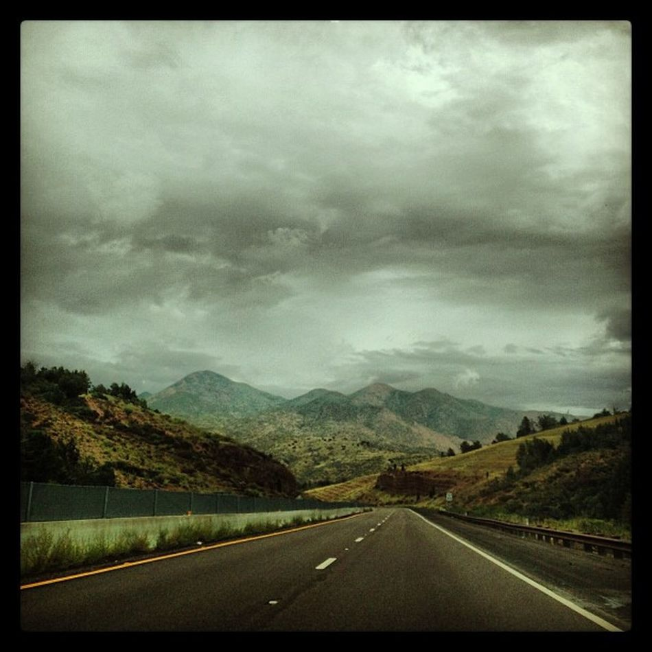 Mountains Mtns Clouds Cloudy rainy boonies ontheroad road rd median az arizona nature