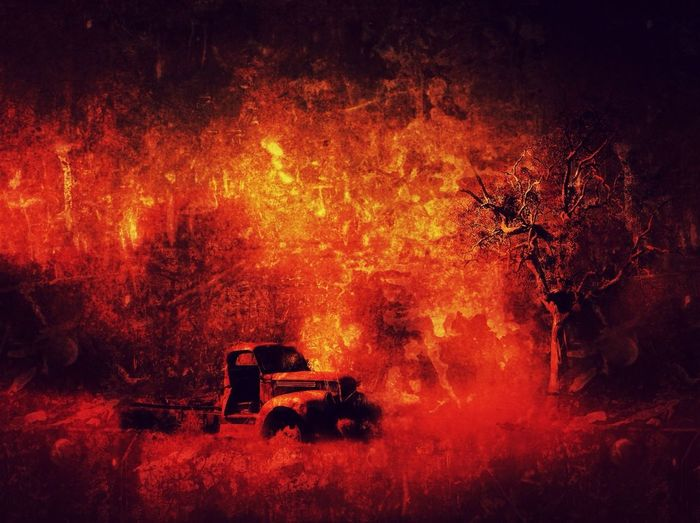 Rural Decay Rusty Autos Divelandscape Ablaze