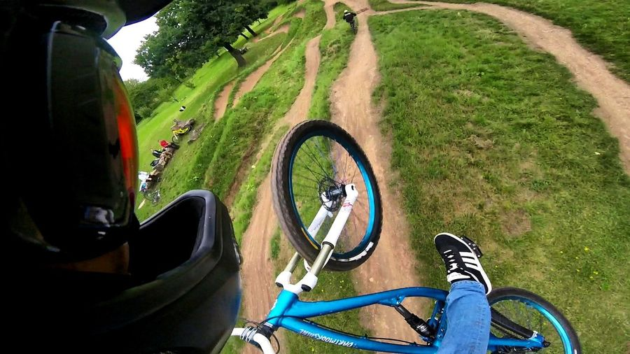 Big ol' jump High Angle View Grass Day Outdoors Bike Dirtjump Slopestyle