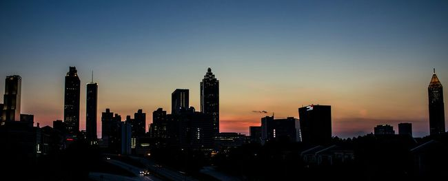 Downtown Atlanta Sunset Cityscapes Silhouette Skyline Skyporn Architecture Summertime Golden Hour Blue Wave Fine Art Photography