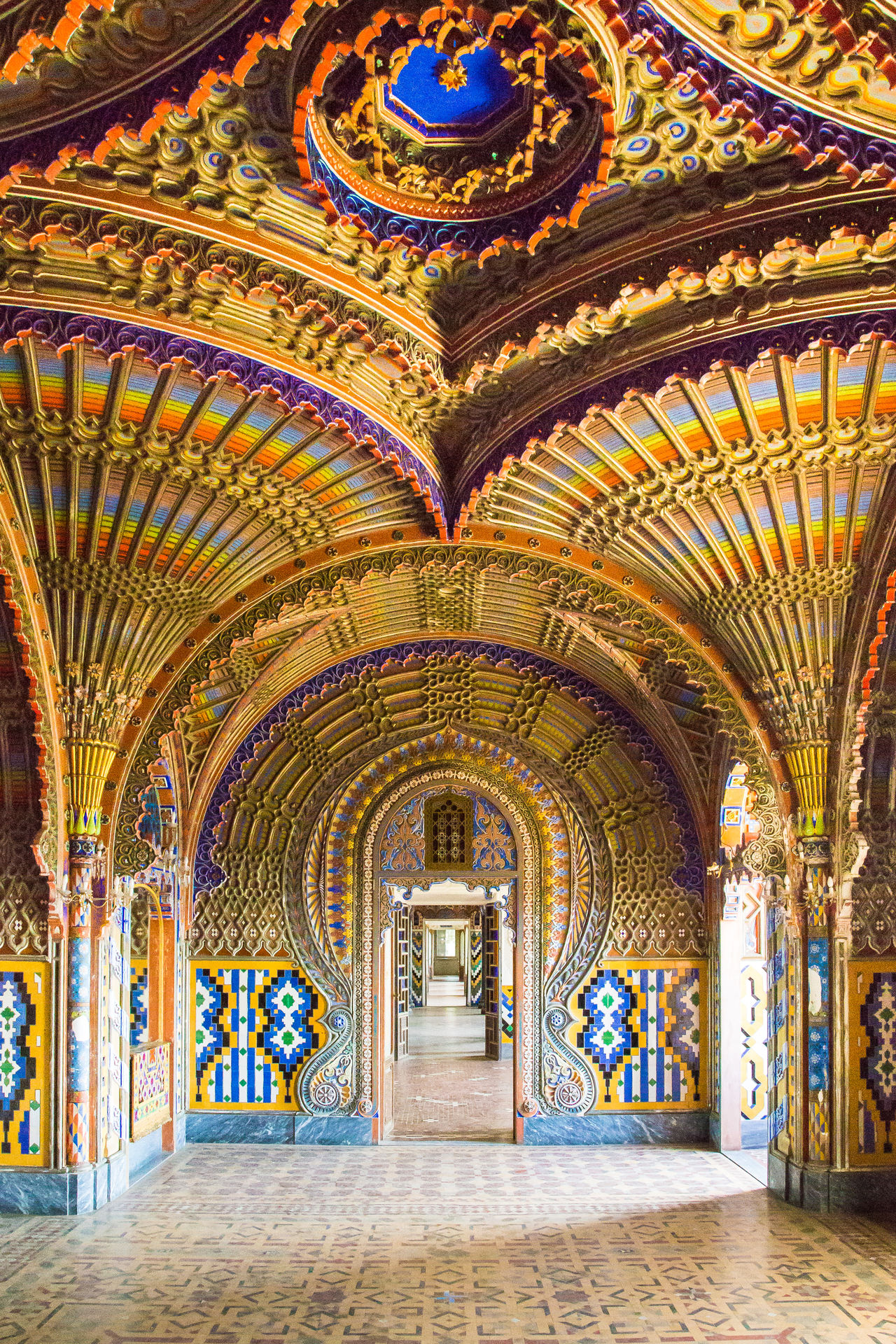 Arabic Arabic Architecture Arabic Style Arched Architectural Column Architectural Feature Architecture Blackandwhite Ceiling Church Corridor Door Golden Indoors  Mosaic Multi Colored Point Religion Sammezzano Sammezzanocastle Spirituality Textura Travel Destinations