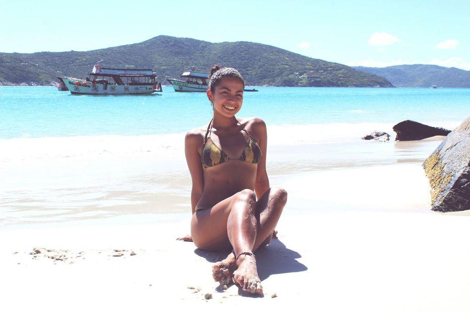 Beach Portrait Bikini Nature Smiling Photoshooting Arraialdocabo Ilha Do Farol Brasil Caribe Brasileiro Paraíso Myself Traveller