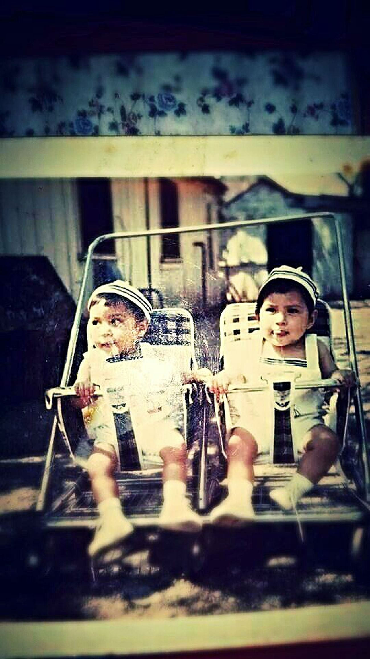 Me and my Twin Zeke back in the 70's! That's Me 70's Vintage ❀ The 70's ❀ Oldpicture OldSkool Brothers Twins Twin Towers
