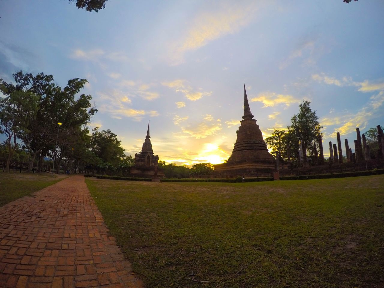 Spotted In Thailand Old Town Sukothai Sunset Time To Travel