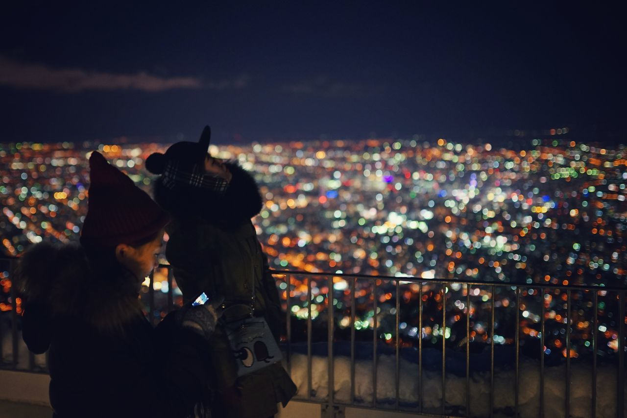 Capture The Moment Illuminated City Night High Angle View Two People Fashion Urban Skyline Bokeh Lighting Equipment Fine Art Depth Of Field Landscapes Street Photography Uzu St. Cold Temperature Winter People Silhouette Urban Exploration Full Frame Detail Sigma EyeEm Best Shots 17_02